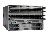 Cisco Nexus 9504 Chassis Bundle - commutateur - Géré - Montable sur rack - avec Cisco Nexus 9500 Supervisor (N9K-SUP-A), 2x Cisco Nexus 9500 System Controller (N9K-SC-A), 4x Cisco Fabric Module with 100G support, ACI and NX-OS (N9K-C9504-FM-E)