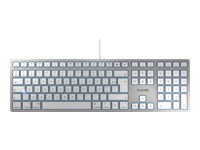 CHERRY KC 6000 SLIM FOR MAC - clavier - Français - argent