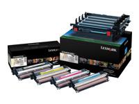 Lexmark - pack de 4 - noir, couleur (cyan, magenta, jaune) - originale - unité de mise en image de l'imprimante - LCCP