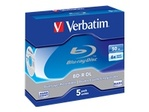 Blu-ray VERBATIM Verbatim - BD-R DL x 5 - 50 Go - support de stockage