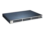 Switch gigabit administrable 48 ports 10/100/1000 Mbps dont 4 ports combo GBIC/1000Base-T