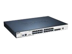 Switch gigabit administrable 20 ports 10/100/1000 PoE/PoE dont 4 ports combo GBIC/1000Base-T