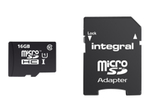 Carte mémoire INTEGRAL Integral UltimaPro - carte mémoire flash - 16 Go - microSDHC UHS-I