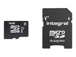 Carte mémoire INTEGRAL Integral Smartphone and Tablet - carte mémoire flash - 16 Go - microSDHC UHS-I