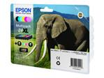 Bac Papier EPSON Epson 24XL Multipack - pack de 6 - XL - noir, jaune, cyan, magenta, magenta clair, cyan clair - originale - cartouche d'encre