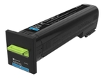 Toner LEXMARK 72K20CE CS820 CX82x CX860 - Cyan