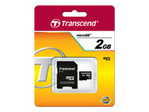 Carte mémoire TRANSCEND Transcend - carte mémoire flash - 2 Go - micro SD