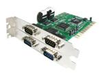 Carte Réseau StarTech.com Carte PCI avec 4 Ports DB-9 RS232 - Adaptateur Série - UART 16550 - 1x PCI / PCI-X Mâle - 4x DB-9 Mâle