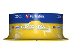 CD/DVD VERBATIM Verbatim - DVD+RW x 25 - 4.7 Go - support de stockage