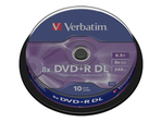 CD/DVD VERBATIM Verbatim - DVD+R DL x 10 - 8.5 Go - support de stockage