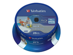 Blu-ray VERBATIM Verbatim DataLife - BD-R x 25 - 25 Go - support de stockage