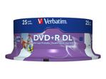 CD/DVD VERBATIM Verbatim - DVD+R DL x 25 - 8.5 Go - support de stockage
