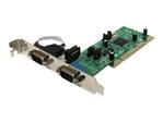 Pièces détachées réseau StarTech.com Carte PCI avec 2 Ports Série DB-9 RS422/485 - UART 161050 -1x PCI / PCI-X Mâle - 2x RS422/485 DB-9 Mâle