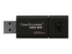 Clé USB KINGSTON Kingston DataTraveler 100 G3 - clé USB - 128 Go