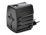 Batterie smartphone KENSINGTON Kensington International Travel Adapter adaptateur secteur - BS 1363, NEMA 1-15, Europlug, AS/NZS 3112, 2 x USB