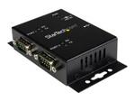 Carte réseau USB StarTech.com Hub adaptateur industriel USB vers série 2ports à fixation murale avec clips de railDIN