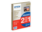 Papier standard EPSON Epson Premium Glossy Photo Paper BOGOF - papier photo - 15 feuille(s) - A4 - 255 g/m² (pack de 2)