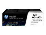 Toner HP HP 201X - pack de 2 - à rendement élevé - noir - originale - LaserJet - cartouche de toner (CF400XD)