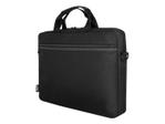 "Sacoche, malette & housse URBAN FACTORY Urban Factory TopLight Toploading Laptop Bag 15.6"" Black sacoche pour ordinateur portable"