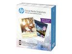 Papier standard HP HP Social Media Snapshots - papier photo - 25 feuille(s) - 100 x 130 mm - 265 g/m²