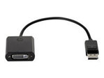 Câble VGA HP HP DisplayPort to DVI Adapter - Adaptateur DisplayPort
