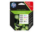 Cartouche d'encre HP HP 932XL/933XL Combo Pack - pack de 4 - à rendement élevé - noir, jaune, cyan, magenta - originale - Officejet - cartouche d'encre