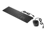 Pack clavier & souris HP HP Pavilion 400 - ensemble clavier et souris - Français - noir de jais