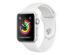 Objet connectés APPLE Apple Watch Series 3 (GPS) - aluminium argenté - montre intelligente avec bande sport - blanc - 8 Go
