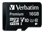 Carte mémoire VERBATIM Verbatim - carte mémoire flash - 16 Go - micro SDHC
