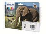 Bac Papier EPSON Epson 24 Multipack - pack de 6 - noir, jaune, cyan, magenta, magenta clair, cyan clair - originale - cartouche d'encre (alternative pour: Epson 24XL)