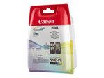 Cartouche d'encre CANON Canon PG-510 / CL-511 Multi pack - pack de 2 - noir, couleur (cyan, magenta, jaune) - originale - cartouche d'encre