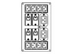 Symmetra RM 220-240V Backplate Kit w/(8)