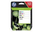 Cartouche d'encre HP HP 364 - pack de 4 - noir, jaune, cyan, magenta - originale - cartouche d'encre