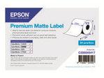 Etiquette et adhésif EPSON Epson Premium - papier continu pour étiquette - mat - 1 rouleau(x) - Rouleau (5,1 cm x 35 m)