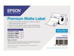 Etiquette et adhésif EPSON Epson Premium - Étiquettes en forme découpée - mat - 650 étiquette(s) - 76 x 51 mm