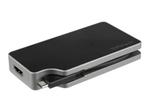 Carte Graphique StarTech.com StarTech.com Adaptateur multiport AV numérique USB-C - VGA / DVI / HDMI / mDP - PD 95 W - Câble intégré - Gris sidéral (CDPVDHMDPDP) - adaptateur vidéo externe - gris