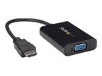 Câble écran & moniteur StarTech.com StarTech.com Câble adaptateur HDMI vers VGA avec audio - Convertisseur vidéo HDMI vers HD15 - Mâle / Femelle - 1920x1080 - Noir - convertisseur interface vidéo - 25 cm