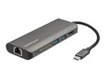 Station d'accueil StarTech.com StarTech.com Adaptateur multiport USB-C avec HDMI 4K - Mac et Windows - Lecteur de carte SD - 2x USB-A 1x USB-C - PD 3.0 (DKT30CSDHPD3) - station d'accueil - USB-C - GigE
