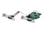 Carte réseau PCI-e StarTech.com StarTech.com Carte série PCI Express à 2 ports RS232 avec UART 16950 - Compatible Windows et Linux - 921.4 Kbps (PEX1S953LP) (PEX2S953LP) - adaptateur série - PCIe - RS-232 x 2