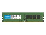 Mémoire vive PC Crucial Crucial - DDR4 - module - 4 Go - DIMM 288 broches - 2666 MHz / PC4-21300 - mémoire sans tampon