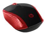 Souris HP HP 200 - souris - 2.4 GHz - rouge