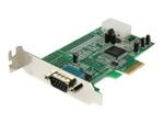 Carte réseau PCI-e StarTech.com Carte PCI Express à Faible Encombrement avec 1 Port RS232 - Adaptateur Série - UART 16550 - 1xPCI Express Mâle - 1xDB-9 Mâle