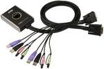 KVM Aten Aten CS682 switch KVM 2 ports DVI/USB/Audio Câbles intégrés