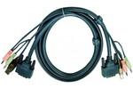 Câble KVM Aten Aten 2L-7D02UD cordon KVM DVI/USB/Audio Dual Link - 1,80M