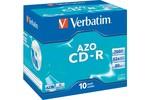 CD/DVD VERBATIM CD-R 80 700Mo Verbatim Pack de 10 boites cristal