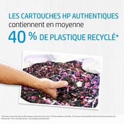 consommable et encre HP avec du plastique recyclé