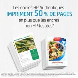 consommable et encres HP impriment 50% de pages en plus que les autres encres