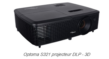 Optoma S321 projecteur DLP - 3D