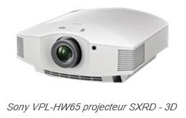 Sony VPL-HW65 projecteur SXRD - 3D