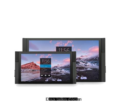 Deux tailles d'écran